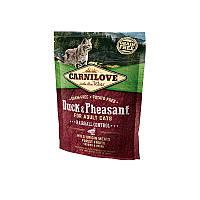 Сухой корм Carnilove Cat Duck & Pheasant Hairball Control с уткой и фазаном для выведения комков шерсти