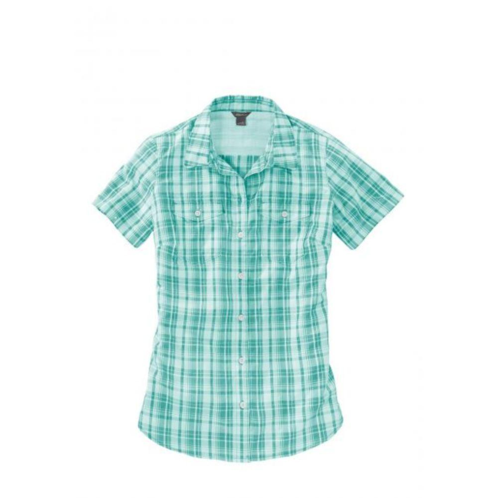 Женская рубашка Eddie Bauer Womens Adventurer Short-Sleeve Blouse GREEN (M)