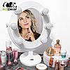 Подарок на 8 марта для девушки -Зеркало для макияжа белое, фото 2