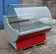 Холодильная витрина гастрономическая «Cryspi Prima» 1.3 м. (Россия), очень широкая выкладка 80 см., Б/у , фото 1