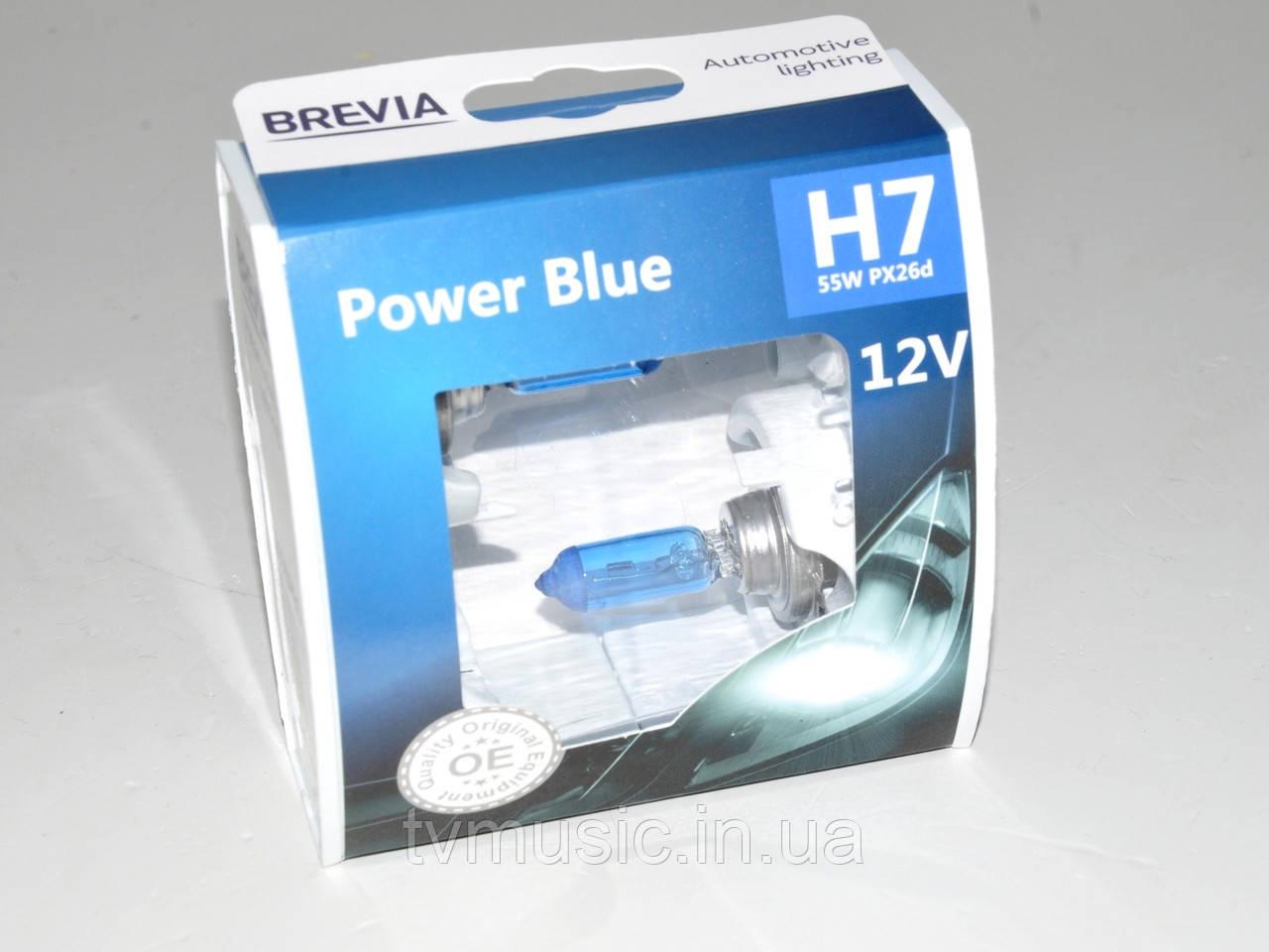 Комплект галогенных ламп Brevia H7 Power Blue (12070PBS)
