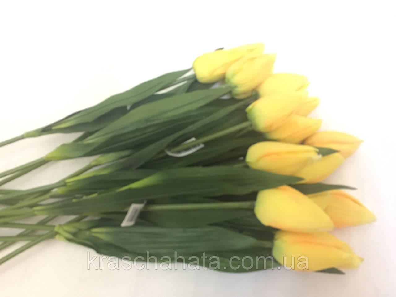 Цветок искусственный, Тюльпан желтый, H56 см, Искусственные цветы, Днепр