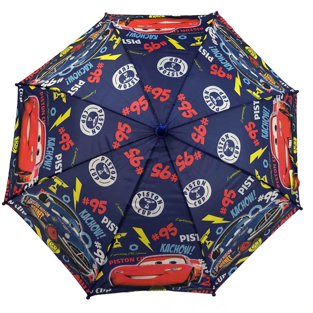 """Детский зонт для мальчиков с тачками на 5-9 лет от фирмы """"Paolo""""."""