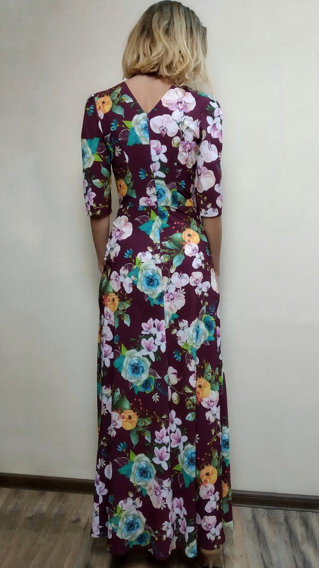 Женское платье в пол с расклешенной юбкой П188