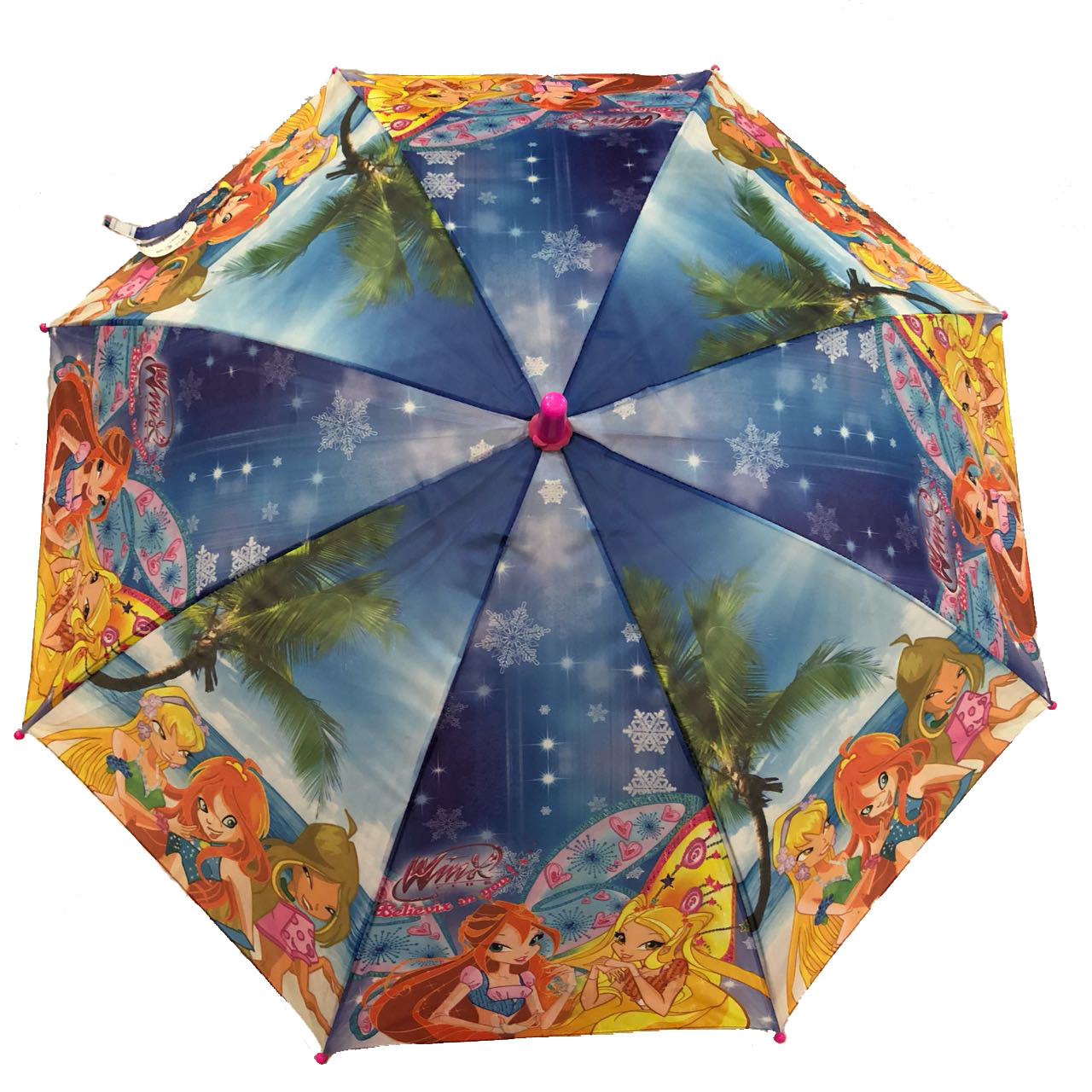 """Детский зонт трость для девочек """"Winx club"""" на 5-9 лет от фирмы """"Paolo"""""""