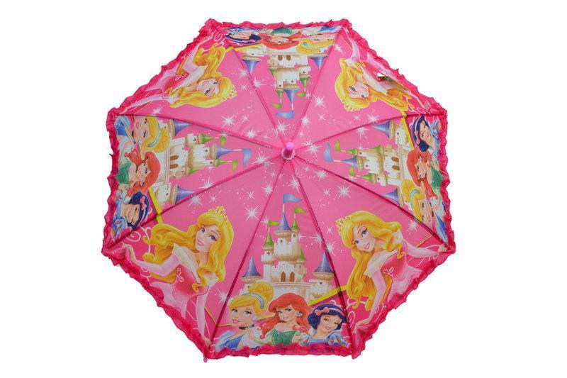 Детский зонт трость для девочек с рюшей
