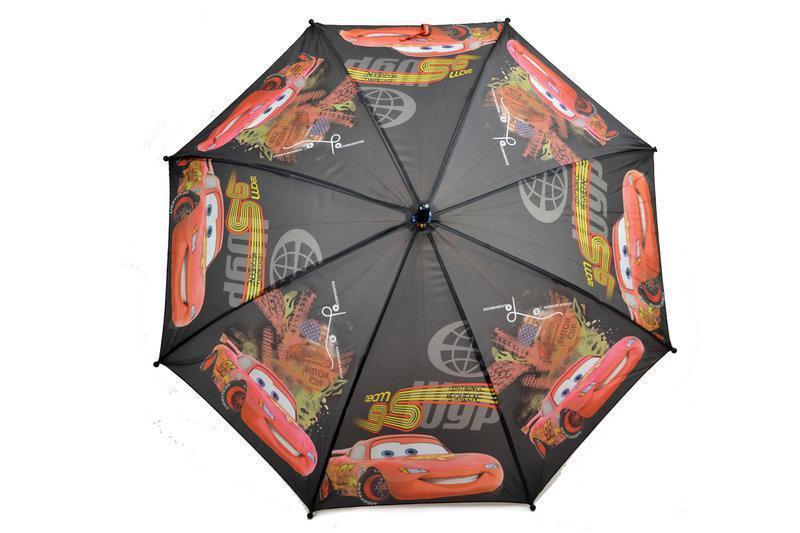 """Детский зонт трость для мальчиков с тачками на 5-9 лет от фирмы """"Paolo"""""""