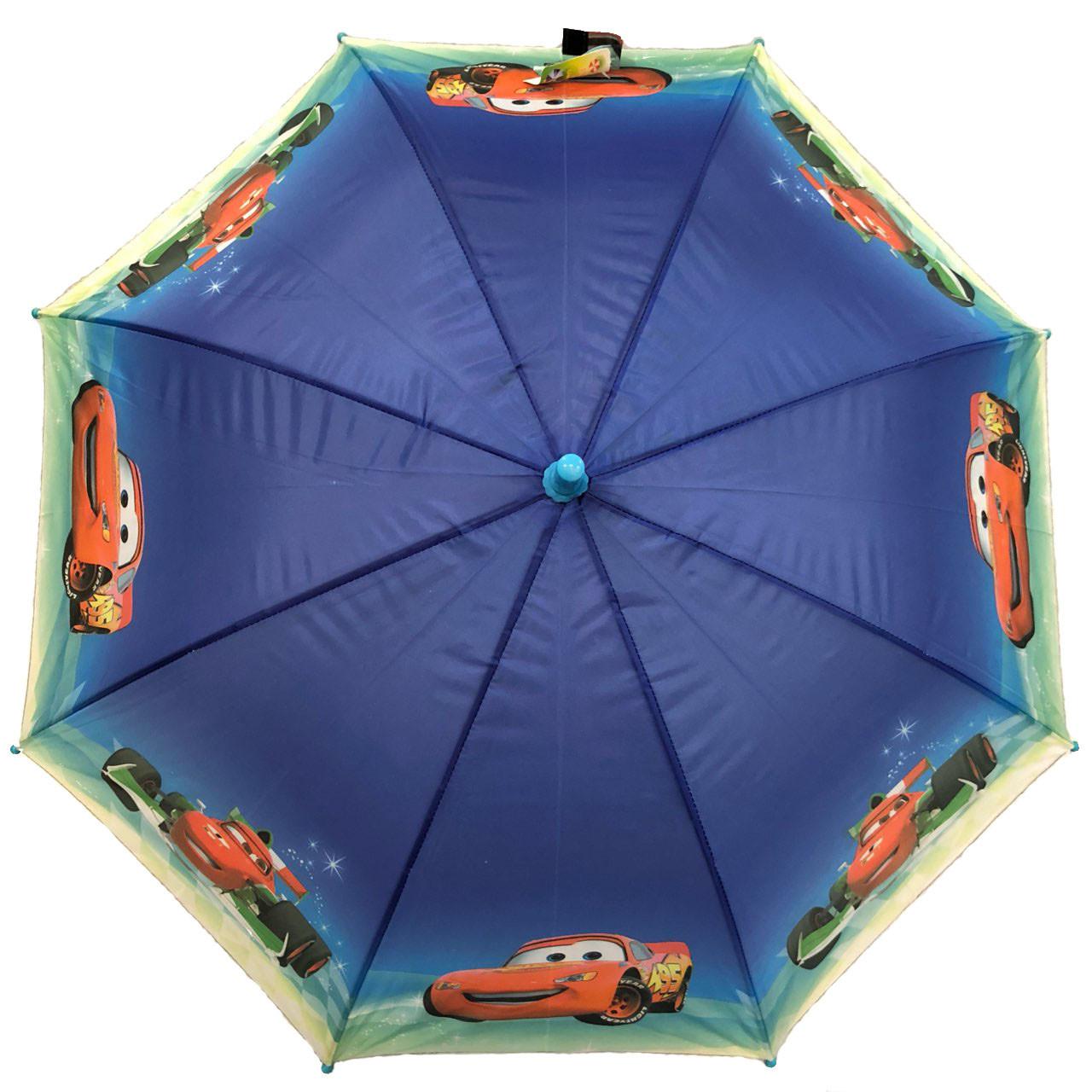 """Детский зонт для мальчиков с тачками на 5-9 лет от фирмы """"Paolo'"""