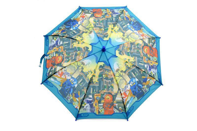 Детский зонт трость для мальчиков с Ниндзяго