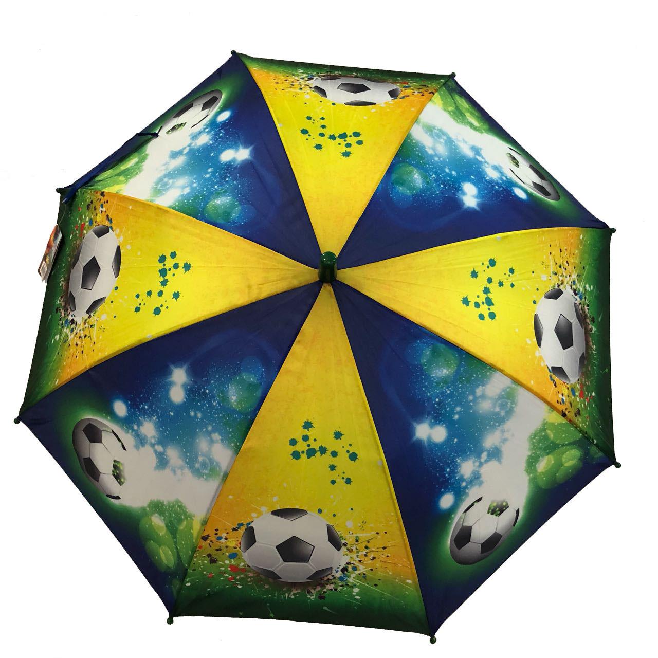 Детский зонт трость для мальчиков Футбол