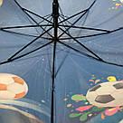 Детский зонт трость для мальчиков Футбол, фото 2