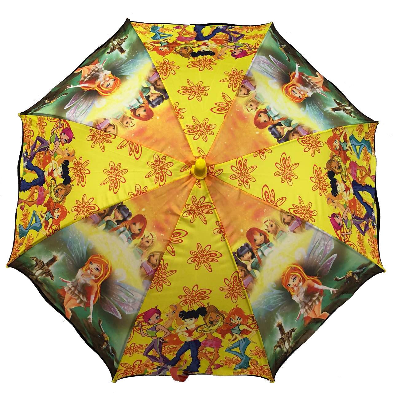 """Детский зонт трость для девочек """"Winx Club"""""""