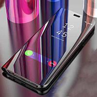 Зеркальный чехол-книжка CLEAR VIEW с функцией подставки для Samsung J6 Plus2018 (J610)