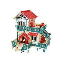 3D Деревянный конструктор. Модель Загородный дом