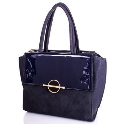 Сумка деловая ANNA&LI Женская сумка из качественного кожезаменителя и натуральной замши ANNA&LI (АННА И ЛИ) TU14656-blue