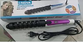 Плойка для кручених волосся NOVA 5377 кругла плойка для завивки волосся
