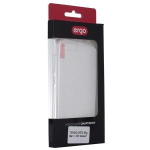 Чехол ERGO V570 Big Ben - TPU Clean + 9H Glass Transparent