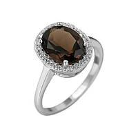 Серебряное кольцо Таира с раухтопазом и фианитами 17 000081594