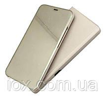 Зеркальный чехол-книжка CLEAR VIEW с функцией подставки для Samsung J6 Plus2018 (J610) Золотой