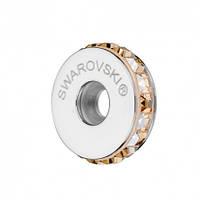 Стоперы для браслетов в стиле Пандора от Swarovski Crystal Golden Shadow 81001