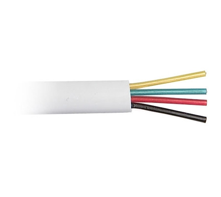 Телефонный кабель CCS (длина 100м., 26AWG, 4 жильный), белый