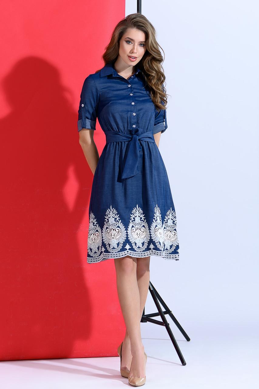eae13d6fcd1 Джинсовое Платье с Кружевом — в Категории