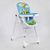 """Детский стульчик для кормления JOY К-61735  """"Жираф"""" цвет голубой, в коробке"""