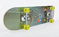 Скейтборд скейт спортивный CrazySkate 074: размер 78х20см, PU колеса, фото 1
