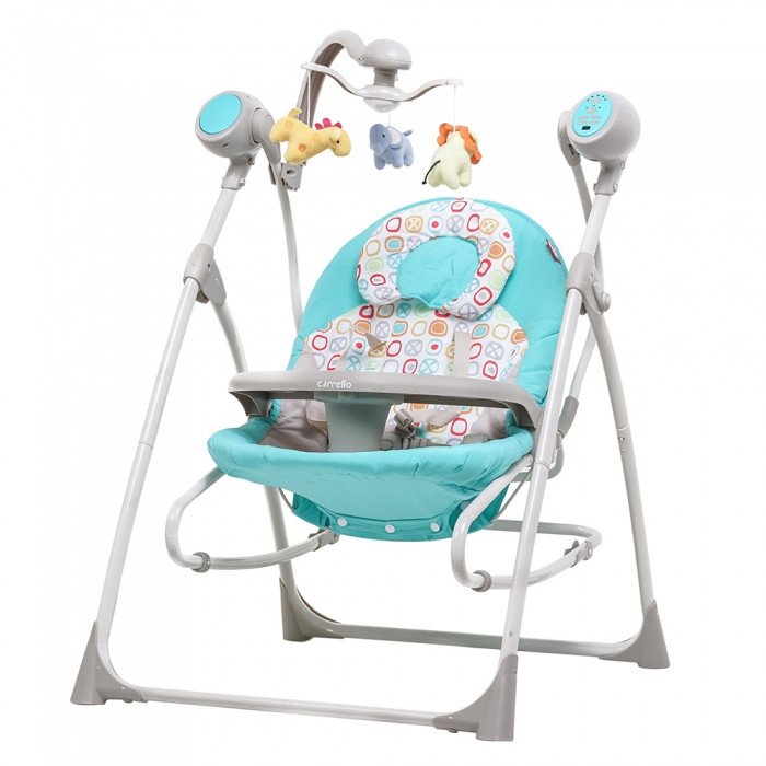 Кресло-качалка CARRELLO Nanny CRL-0005 Turquoise Scribble