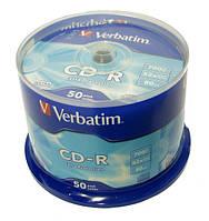 """Диск cd-r """"Verbatim""""(большая коробка 50 штук)"""