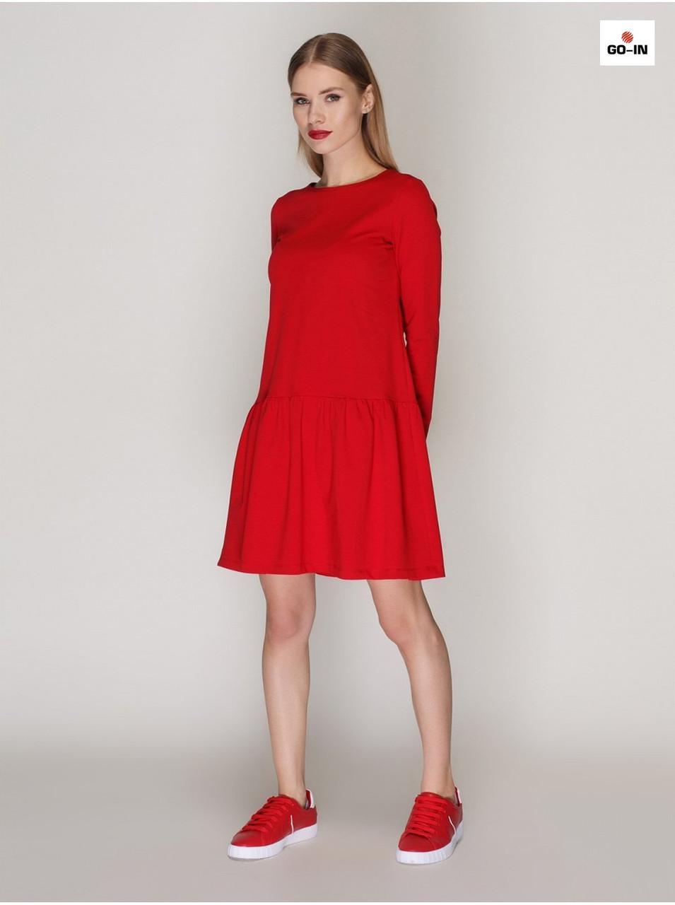 857438653ce Женское красное платье расклешенного силуэта летнее - Интернет-магазин