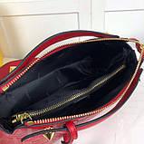 Сумка от Фенди модель Boston натуральная кожа, цвет красный, фото 3