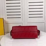 Сумка от Фенди модель Boston натуральная кожа, цвет красный, фото 6