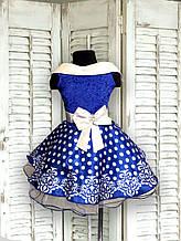 Шикарное детское нарядное платье в горошек