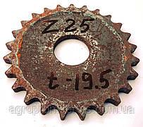 Звёздочка Z-25 шаг цепи t-19.5 диаметр отверстия  44мм.