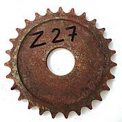 Звёздочка Z-27 шаг цепи t-19.5 диаметр отверстия  44мм.