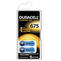 Батарейка Duracell HA 675 уп. 6 шт.
