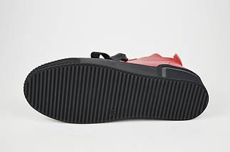 Ботинки кожаные красные Euromoda 368, фото 3