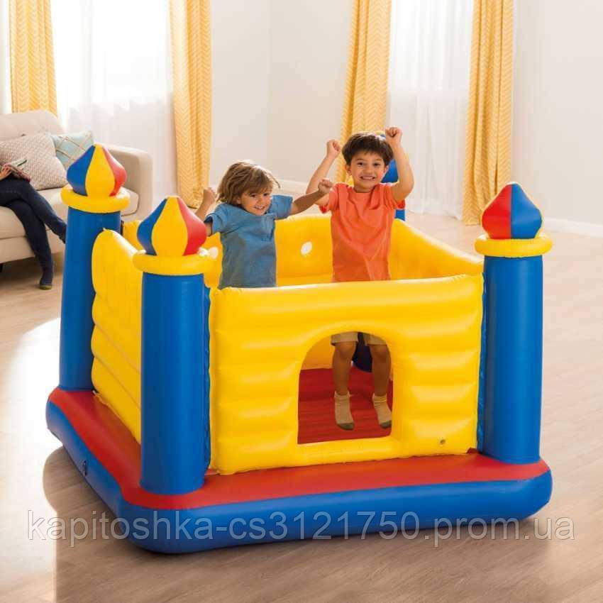 Надувной игровой центр-батут. Размер: 175х175х135 см. Вместимость: 1-3 ребенка. Intex 48259