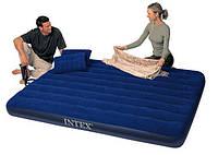 Надувной матрац Intex с насосом и подушками