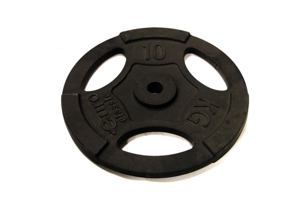Диск чугунный d 25 мм 10 кг USA Style SS-EK-D25-2047-10