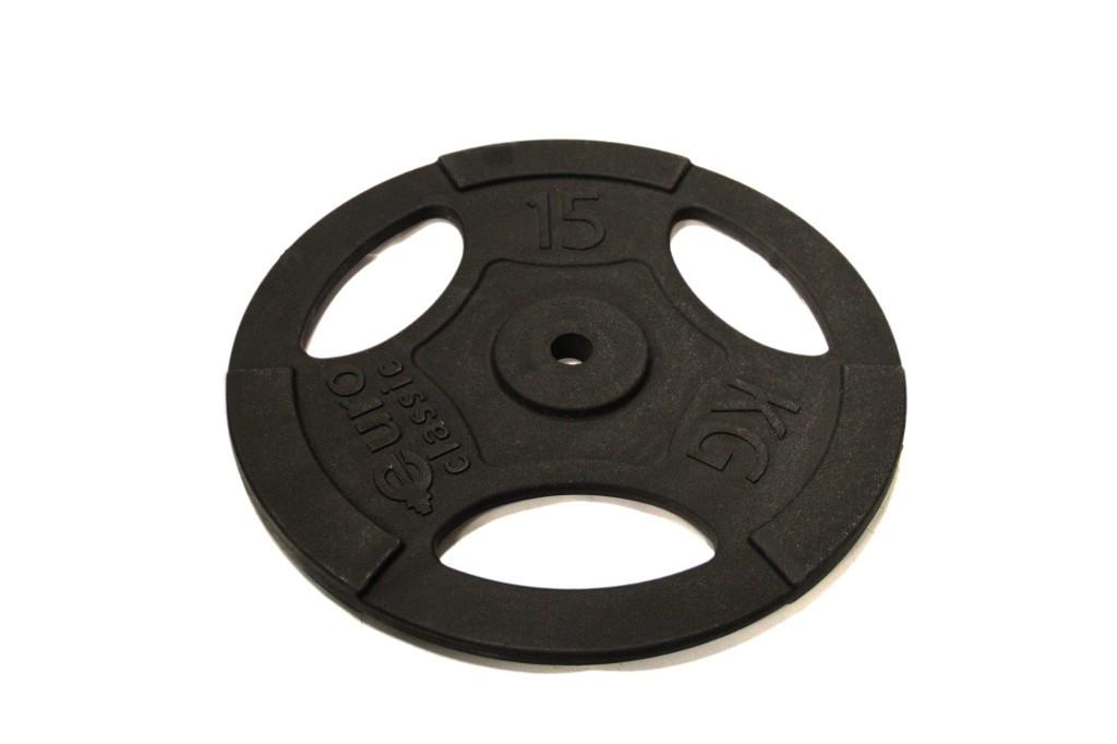 Диск чугунный d 25 мм 15 кг USA Style SS-EK-D25-2047-15