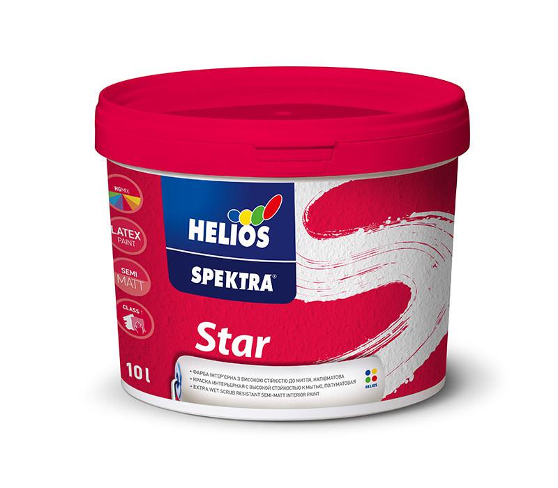 Ультрамоющаяся краска для стен и потолков HELIOS SPEKTRA Star, 2л