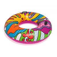 Большой стильный надувной круг Поп - арт с ручками 2 шт, 119 см, bestway 36125