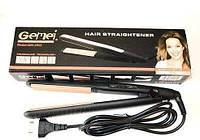 Утюжок выпрямитель для волос Gemei GM-2955S с турмалиновым покрытием (не гофре)