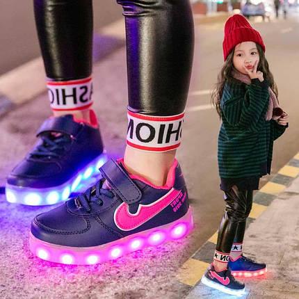 Кроссовки с подсветкой Спорт, фото 2