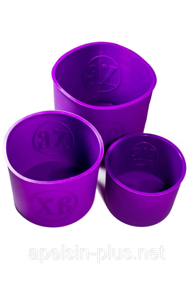 Набор силиконовых форм для выпечки Пасхальных Куличей высокий из 3 штук
