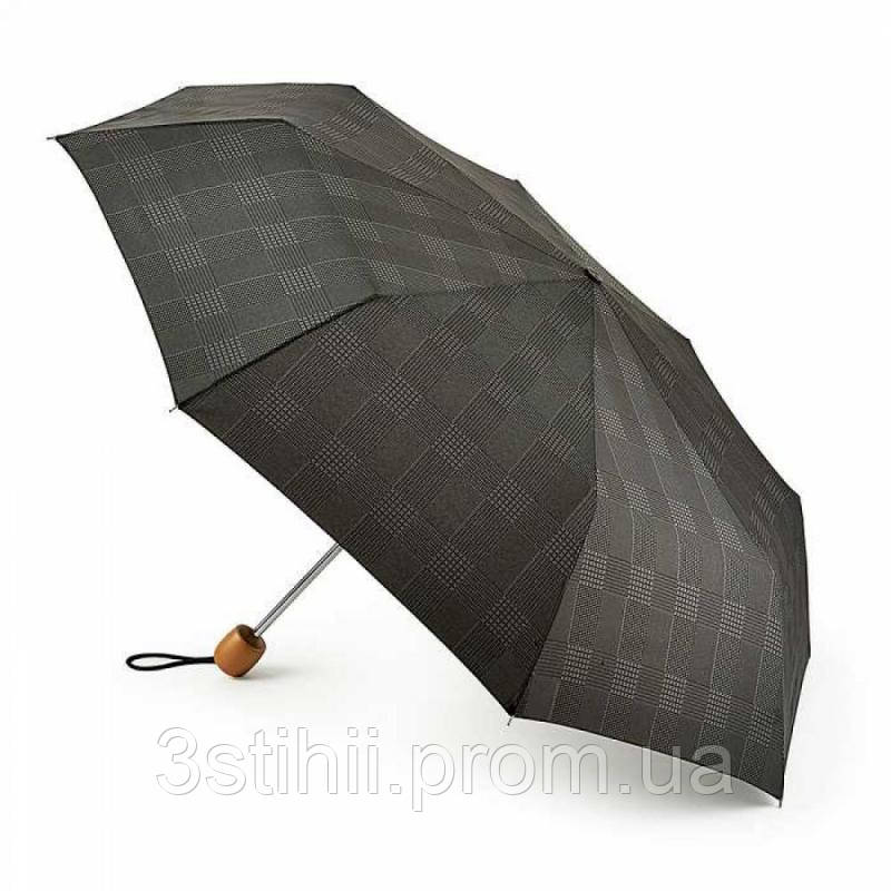 Зонт мужской Fulton Stowaway Deluxe-2 L450 - Smoke Grey Check (Серая клетка)