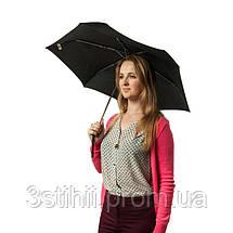 Зонт мужской Fulton Miniflat-1 L339 - Black (Черный), фото 3