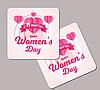 Магнит с логотипом к 8 марта